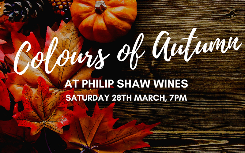 Colours of Autumn at Philip Shaw Wines
